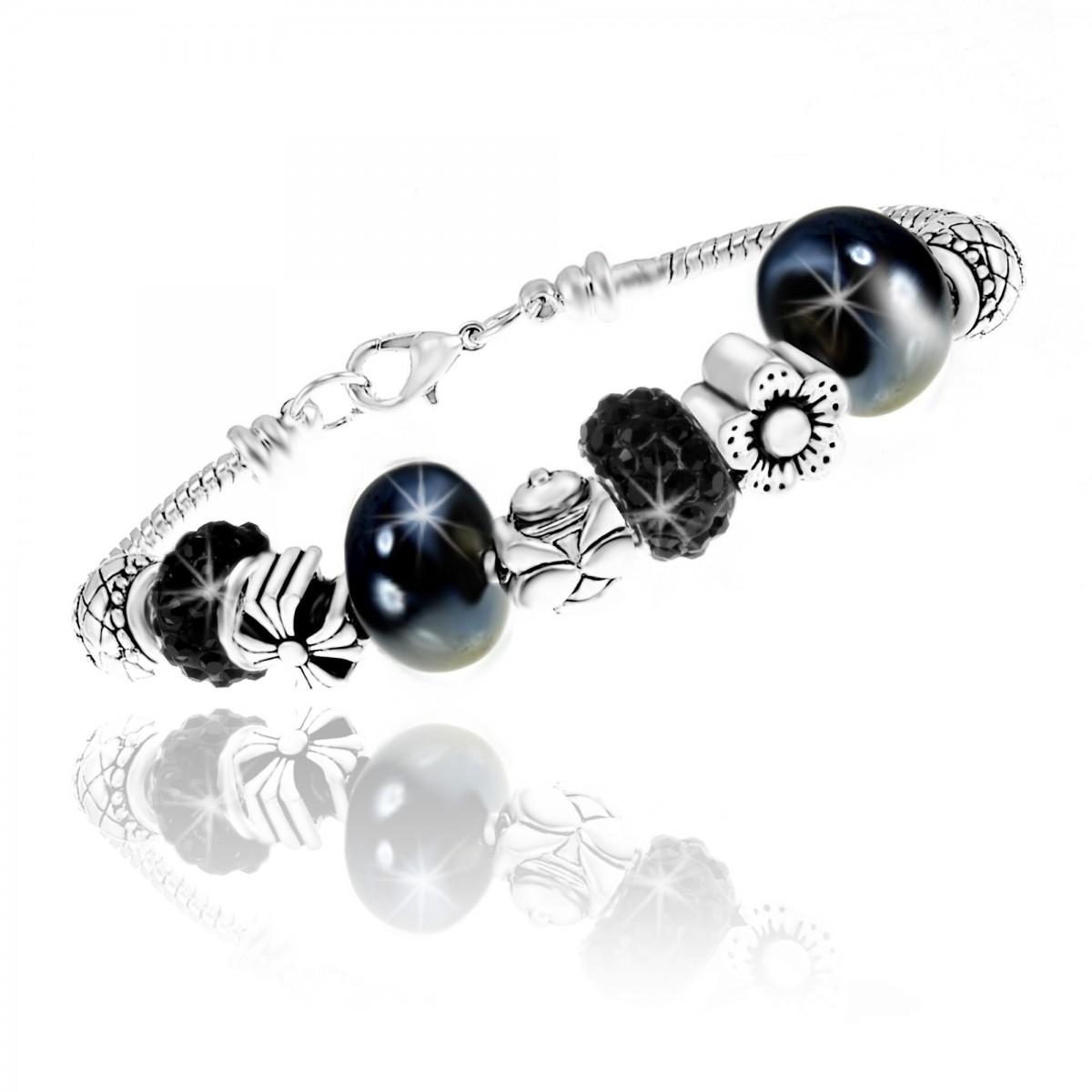 Bracelet perles SoCharm orné de Cristaux Autrichiens