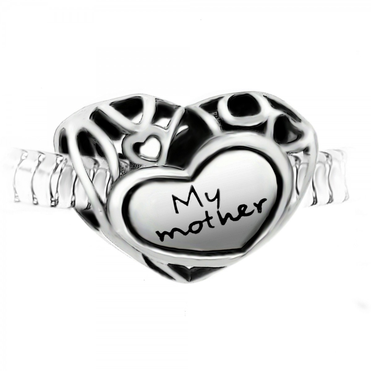 "Charm perle ""My mother"" acier par So Charm"