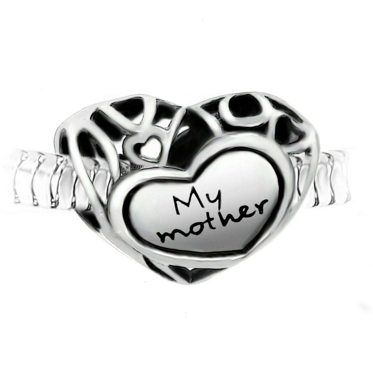 """Charm perle """"My mother"""" acier par So Charm"""