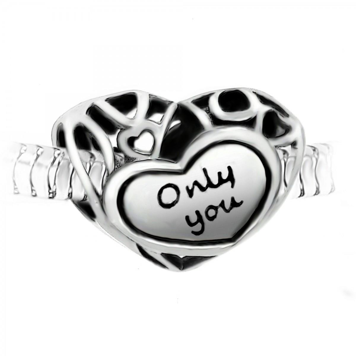 """Charm perle """"Only you"""" acier par So Charm"""