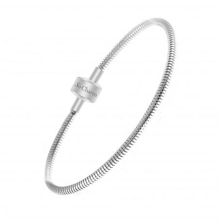 Bracelet acier pour charms perles par So Charm