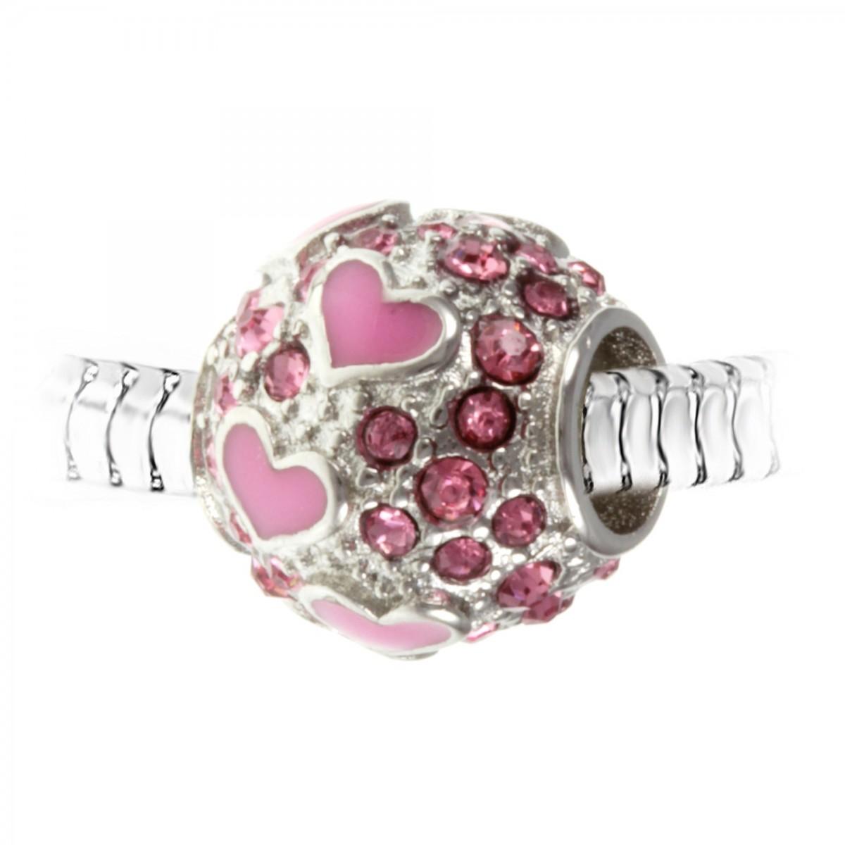 Charm perle orné de cristaux de Bohème par So Charm