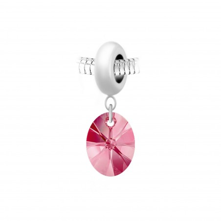 Charm perle So Charm en acier avec pendentif made with Crystal from Swarovski
