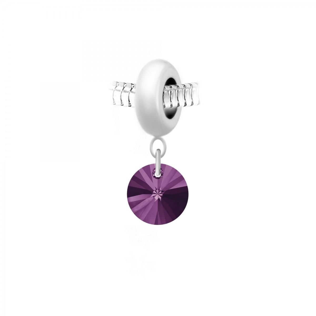 Charm perle So Charm en acier avec pendentif made with Crystal from Swarovski