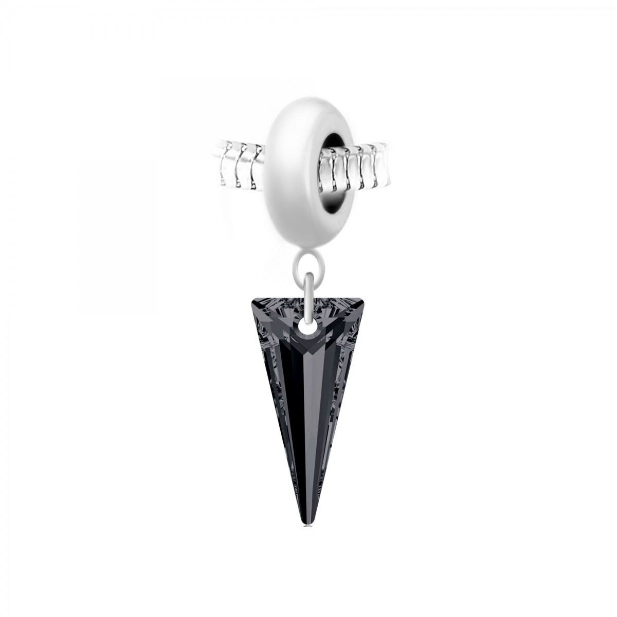 Charm perle So Charm en acier avec pendentif triangle made with Crystal from Swarovski