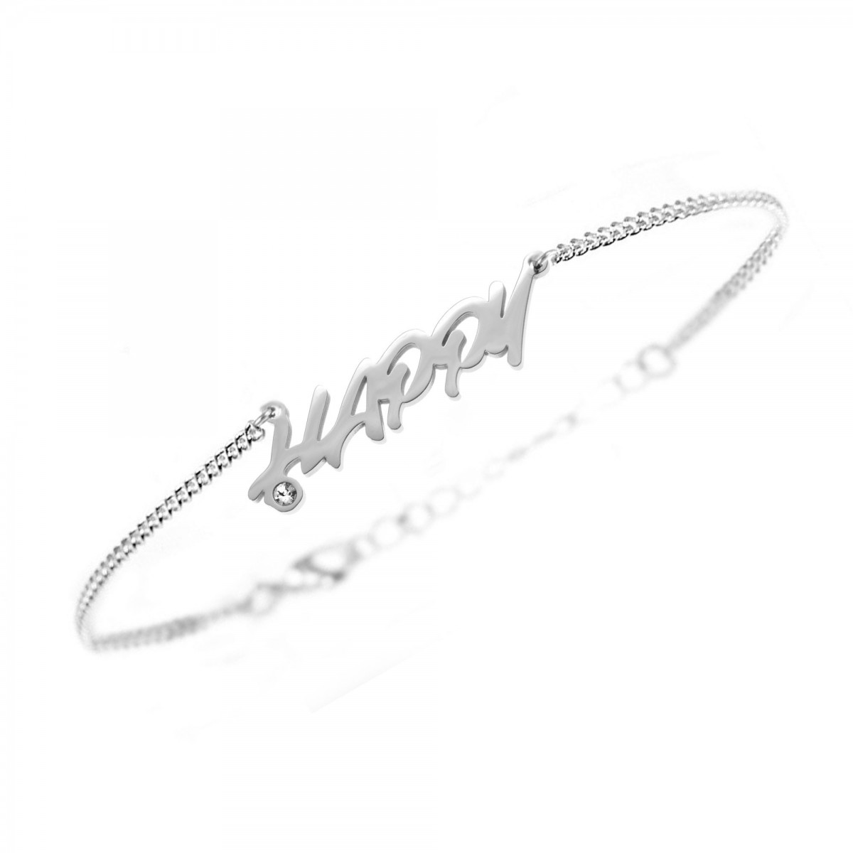 "Bracelet ""happy"" So Charm made with crystal from Swarovski"