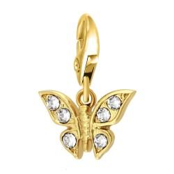 Charm Papillon BR01 orné de...