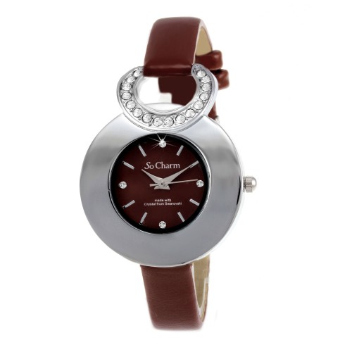 Montre femme fantaisie So Charm made with crystal from Swarovski