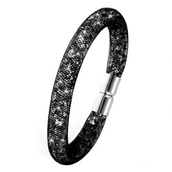 Black strass tube bracelet...