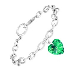 Bracelet coeur vert So...