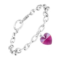 Bracelet coeur rose So...