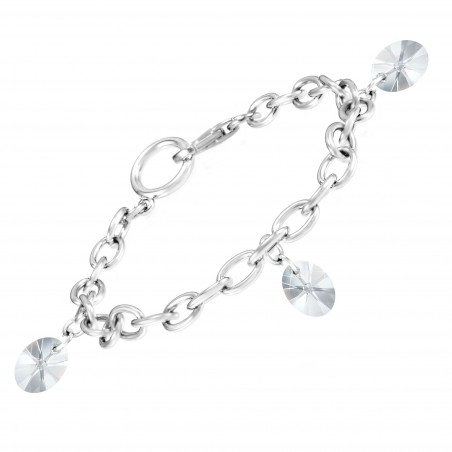 Bracelet argenté et cristaux So Charm made with crystal from Swarovski