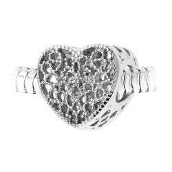 Charm perle coeur en acier...
