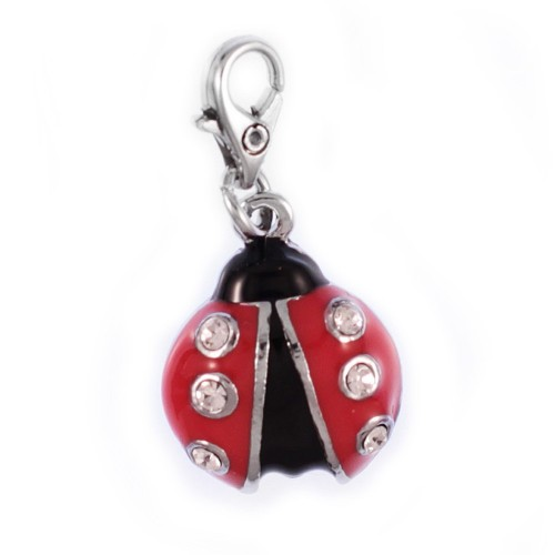 Charm coccinelle So Charm made with Crystal from Swarovski