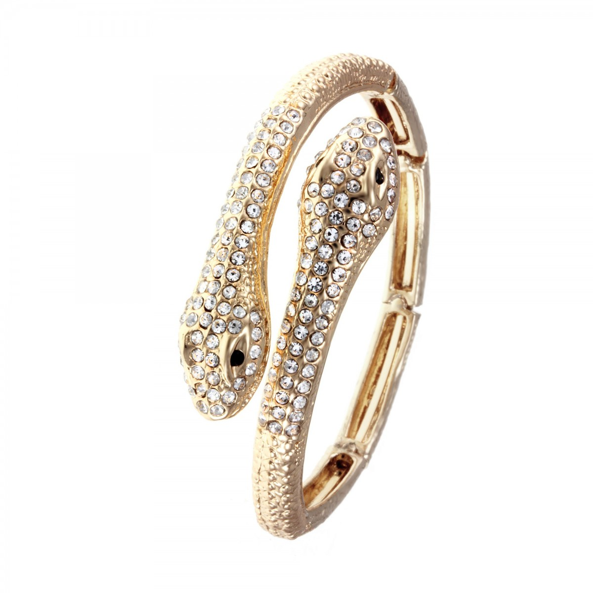 B816-DORE Bracelet bangle serpent So Charm made with crystals from Swarovski