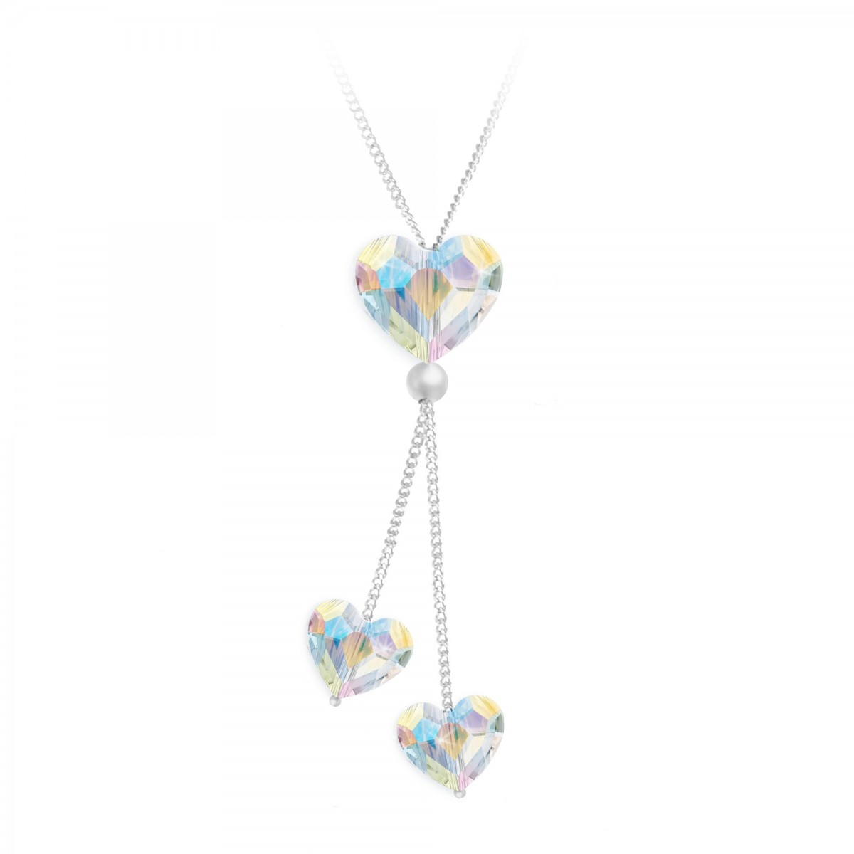 Collier mode coeurs So Charm made with crystals from Swarovski