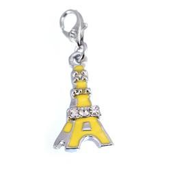 Tour Eiffel strass Jaune