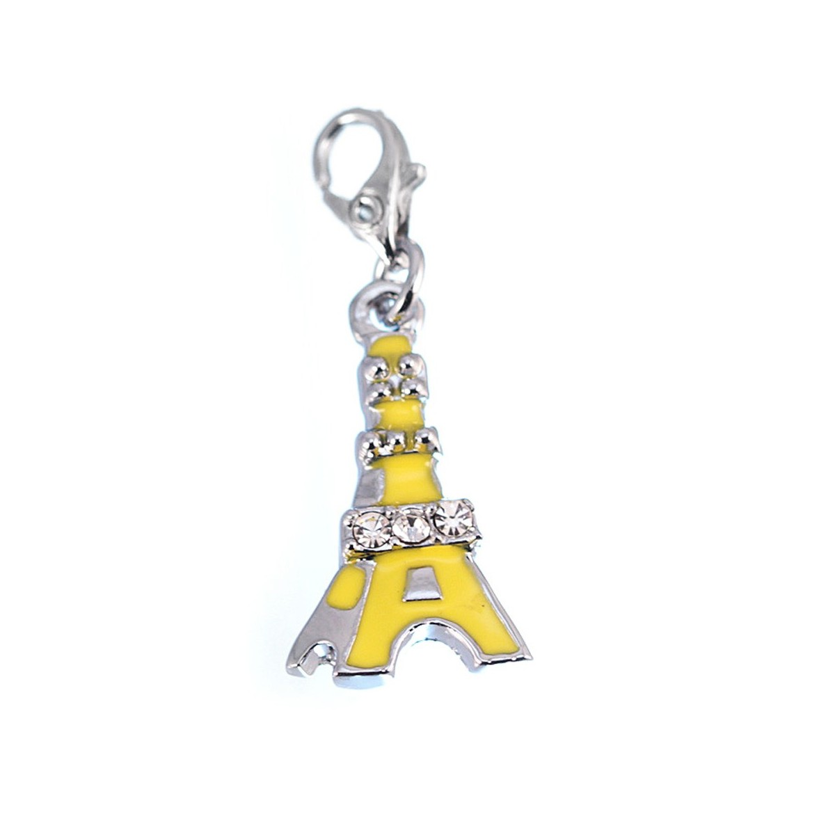 Charm Tour Eiffel jaune strass So Charm