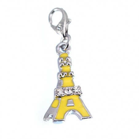 Charm Tour Eiffel jaune strass So Charm