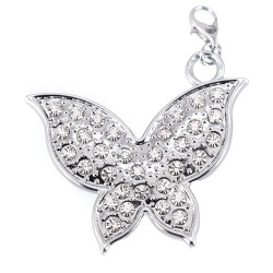 Papillon strass GM