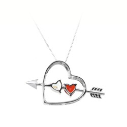 Heart necklace decorated...