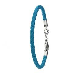 Bracelet façon cuir bleu...