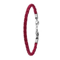 Bracelet façon cuir fushia...