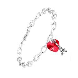 Bracelet coeur rouge et...