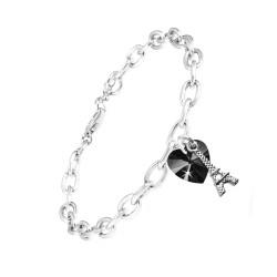Bracelet coeur noir et Tour...