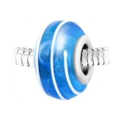 Blue glass spiral bead BR01...