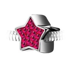Charm perle étoile en acier...