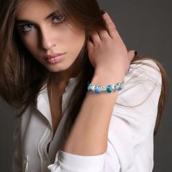BR01 bracelet blue pearls...